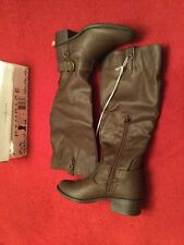 RAMPAGE Intense Brown Riding Boots 6 M NEW IN BOX