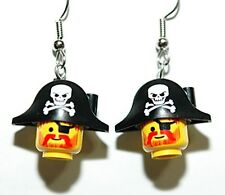 CAPTAIN RED BEARD LEGO DANGLE EARRINGS (L036)