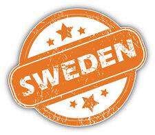 Sweden Grunge Stamp Car Bumper Sticker Decal 5'' x 4''
