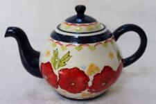 Coastline Imports Dutch Wax Floral Coffee Teapot - Red/Blue/White