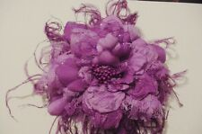 Originals, Floral Flowers Ostrich Feather Hair Clip or Brooch Pin Purple, Orchid