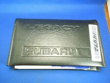 Vintage Subaru Legacy Manual and Papers with Black Leather Case Booklet