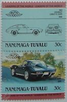 1963 CHEVROLET CORVETTE COUPE Car Stamps (Leaders of the World / Auto 100)