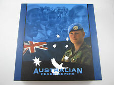 2005 Australian Peacekeepers 5 Coin Coloured Silver Proof Set 10 oz 99.9% Fine