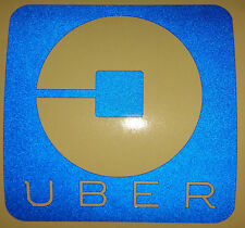 **REFLECTIVE** 4x4 UBER vinyl STICKER sign for Rideshare/taxi drivers car,window