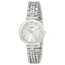 Timex Women's T2P204 Elevated Classics Silver Bracelet Dress Watch
