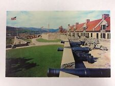 Fort Ticonderoga, New York Fort Carillon French Star Fort Chrome Postcard Unused