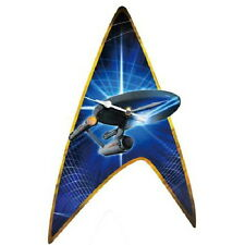 Classic Star Trek Enterprise & Command Insignia Cordless Wall Clock NEW SEALED