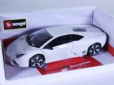 TC81 NEW Lamborghini Reventon Sport Coupe 1:18 1/18 White Diecast Car Burago