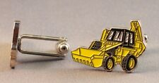 YELLOW DIGGER TRACTOR (JCB Style) High Quality Enamel Cufflinks