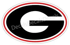 "University of  Georgia Bulldogs (2) 7"" x 12"" G Sticker Decal Ga Corn Hole Game"