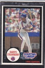 1990  DARYL STRAWBERRY - Kenner Starting Lineup Card - New York Mets - Blue