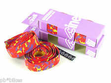 Cinelli handlebar tape cork vintage bike camouflage red purple yellow NOS x 2