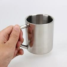 Portable Double Wall Stainless Steel Insulated Coffee Mug Beverage Hot Tea Cup