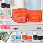 6Pcs Clothes Storage Bags Packing Cube Travel Luggage Organizer Pouch 7Color