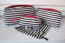 NWT AUTHENTIC HENRI BENDEL SET OF 3 POUCHES PACKABLE TRIO LIMITED EDITION 3P