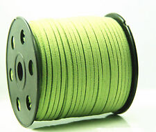 wholesale 10yd 3mm Suede Leather String Jewelry Making Thread Cord green