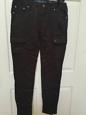 Miss Me Cargo Jeans Skinny CP1246A SZ 26x30 Military MSRP $89 Color GREY