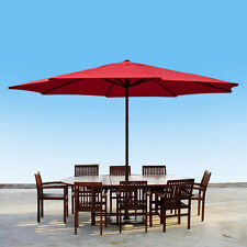 13' FT Feet Aluminum Outdoor Patio Umbrella Deck Gazebo Sun Shade Red New