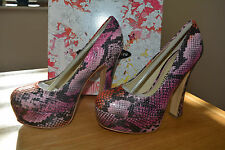Chinese Laundry Move Over Python Pink Platform Courts Size UK3 BNIB RRP £65