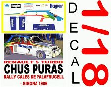 DECAL 1/18 Renault 5 TURBO CHUS PURAS RALLY CALES DE PALAFRUGELL – GIRONA 1 (06)