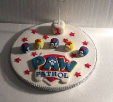 Paw Patrol Cake Topper - Any Colour - Any Name & Age - Birthday