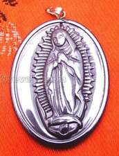 SALE Big 30*40mm Oval Black Mexican Catholic Virgin Mary  Hematite Pendant-n5734
