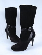 NEW!!  Longchamp 'Million'  Boot- Black Suede- Size 9 M  $710  (B59)