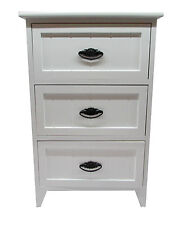 Modern White Gloss Wooden Small 3 Drawer Bedside Table /Cabinet Storage Unit