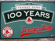 "BOSTON RED SOX FENWAY PARK BASEBALL FAN METAL SIGN ""MAN CAVE SIGNS"" NEW RED SOX"