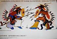 Shield Dancers by Artist Antowne Warrior Sac-Fox Tribes National Congress Poster