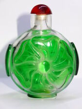 ANCIENNE TABATIERE VERRE CHINE China Vintage Chinese Snuff Bottle Antique