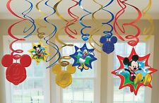 Disney Mickey Mouse Dangling Swirl Decorations Birthday Party Favor Supplies