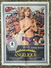 Affiche INDOMPTABLE ANGELIQUE  Robert Hossein MICHELE MERCIER Borderie 60x80*D