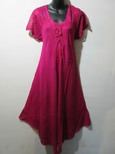 Dress Fit 1X 2X 3X 4X Plus Sundress Pink Lace Sleeves A Shaped Chest Ties G602