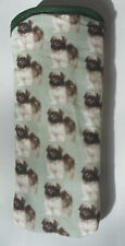 BN LHASA APSO PUPPIES   ALL OVER  COTTON GLASSES CASE