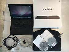"MacBook 13"" 250gb 2.4ghz 4gb RAM Black 4.1 DVD A1181 10.6 Apple Laptop (works)"