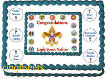 Boy Scout Eagle Scout Court of Honor Edible image cake top Icing 1/2 sheet 4