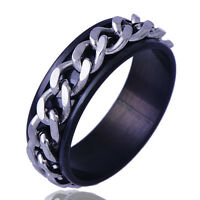 B1329 Men's Stainless Steel iron chain Band Ring Size 9#