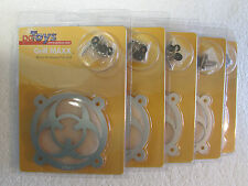 Lot of 5 NEW PCtoys Grill Maxx Marvel 80mm Biohazard Computer Fan Grill Cover ..