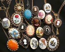 20 Vintage Cameo Quality Pin Brooch Pendant Necklace Jewelry Victorian Lady head