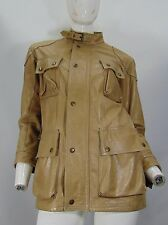BELSTAFF  di PELLE LEATHER Giacca Giubbino Jacket Cappotto Tg 12 Donna Woman G14