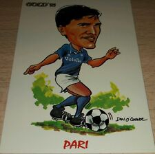 CARD GOLD 1993 NAPOLI PARI CARICATURA CALCIO FOOTBALL SOCCER ALBUM