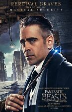 "Fantastic Beasts movie poster  - Colin Farrell - 11"" x 17"" - Percival Graves"