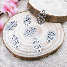 Wholesale 12pcs Tibet Silver Currency Symbol Charm Pendant Beaded Jewelry
