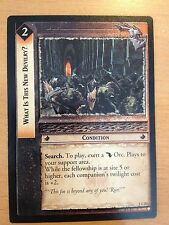 Lord of the Rings CCG Fellowship 1U202 What Is This New Devilry? LOTR TCG