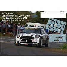 DECALS 1/43 MINI COOPER WORKS WRC -#103 MONZON -RALLYE CANARIES 2014 - NCM140