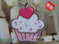 Sew on & iron on  patches(heart cup cake)