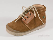 Babybotte Atlas Boys Tawny Suede Lace-up Shoes UK 7 EU 24 US 7.5 RRP £56.00