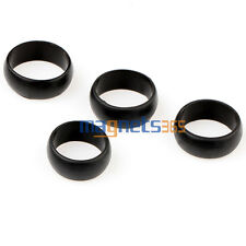 4 PCS MEN'S Silicone Wedding Ring Black Band Ring SIZE 9.10.11.12